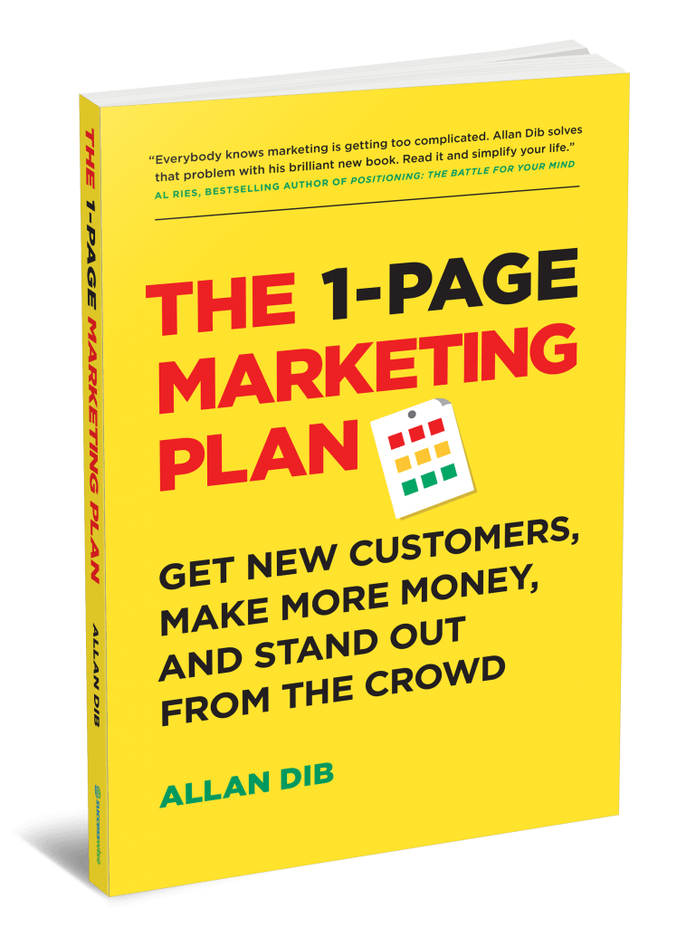 The 1-Page Marketing Plan Book