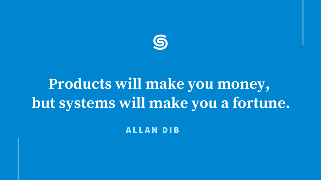 Systems are your biggest payday - Allan Dib Quote