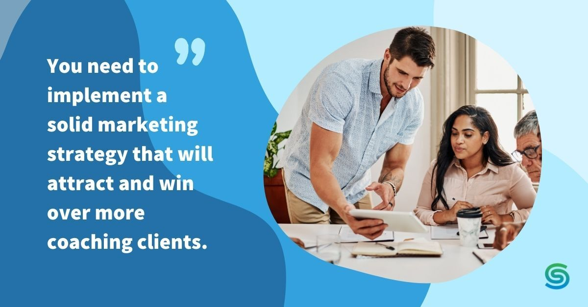 Business Coaching Strategizes A Marketing Plan with his Clients