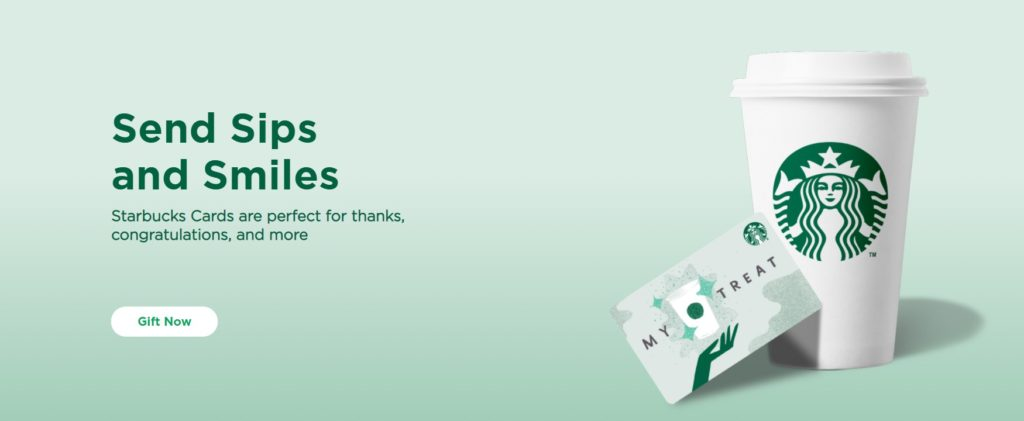 Starbucks uses gift cards to refer new clients