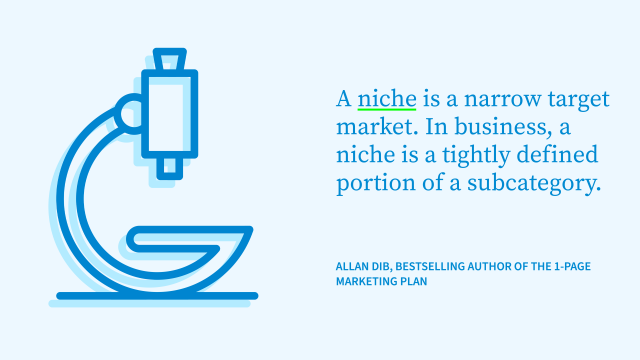 Definition of a niche market by Allan Dib