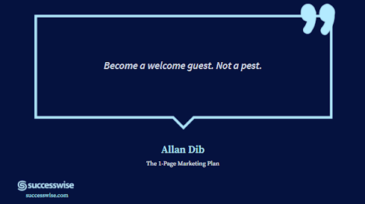 Become a welcome guest