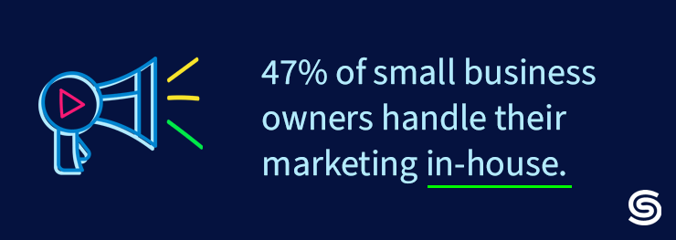 Percentage of Small Business marketing on their own