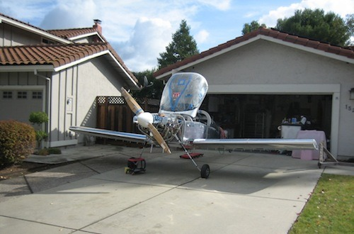 Plane In Driveway