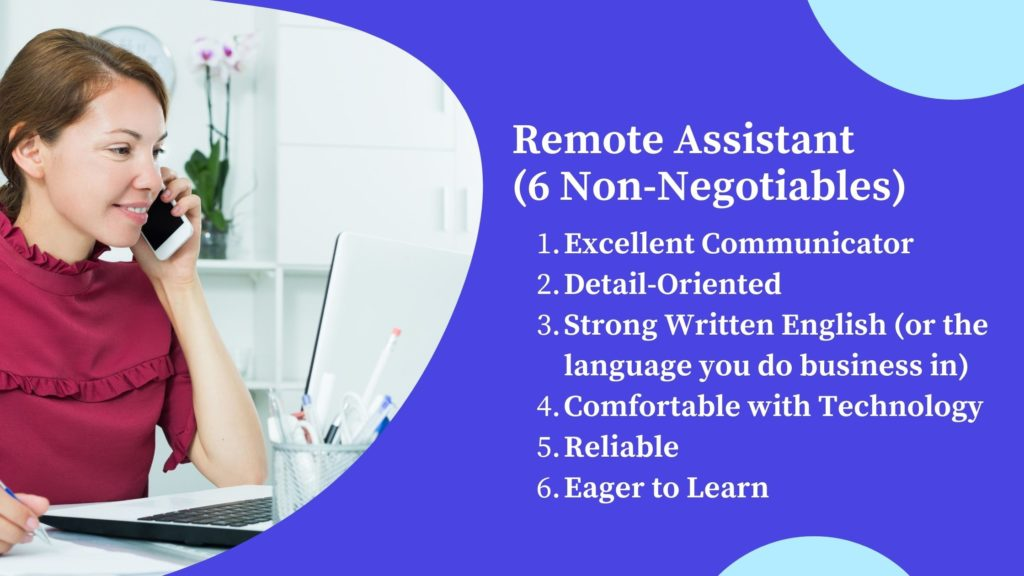 Hiring a high-performing Remote Assistant