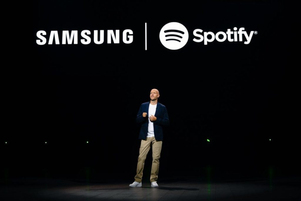 Announcing the jv between Samsung and Spotify